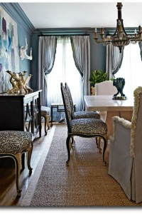 French Painted Dining Chairs Traditional Home