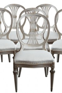 Gustavian Style Dining Chairs Seller Cupboards & Roses