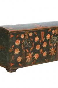 Antique Original Painted Swedish Trunk, dated 1848 From Scandinavian Antiques