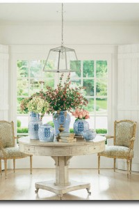 Beautiful White Rent Table – Seen In The Home of Shannon Bowers