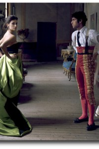 Cayetano Rivera Ordóñez & Penelope Cruz in Armani Privé – Made in Spain photographed by Annie Leibovitz for US Vogue December 2007