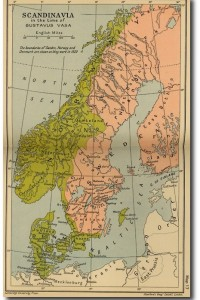 Historical Map of Scandinavia in the time of Gustavus Vasa