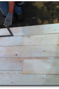 Wood Plank Flooring From PlyWood White Washed