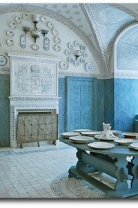 blue and white porcelain room with its extensive collection.