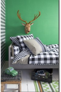 A Perfect Boys Bedroom With Classic Swedish Check By Bibelotte