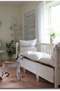 Childrens Room With Swedish Bench