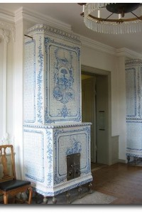 Blue And White Tile Stove