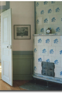 Close-up of the Tiled Stove