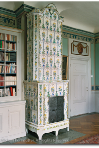 Gustavian Interiors- Swedish Tiled Stove From Michael Perlmutter Photography