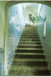Outstanding Faux Finishes- Blue and White Trompe-loeil IDEAS- Blue and White Tile