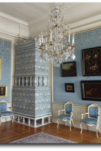 Tile stove in Rundale Palace