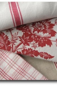 Antique Vintage French fabric materials ~ Project Bundle~ lovely reds. HUGE selection!