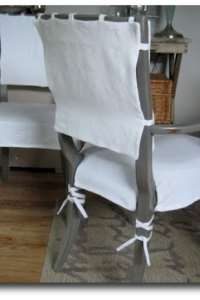 Dining room slipcovers by Donna Jenkins
