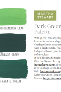 Green paint Colors Featured on martha Stewart