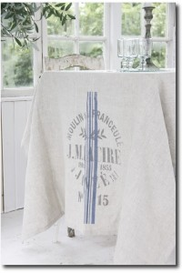 Jeanne dArc Living ~ French flour sack linen tablecloth