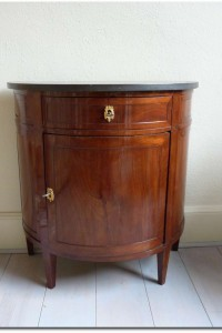 Buffet Half Demi Lune Mahogany With Marble