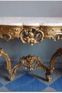 Gilded Console Louis XV Style