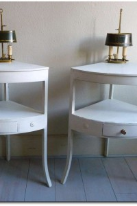 Pair of Empire style furniture corner tables