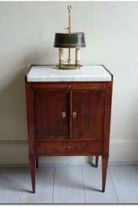 Small Cabinet With Marble Post Gustavian