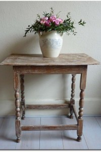 Small Elm Limed Table